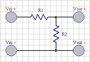 Two Resitor Voltage Divider Circuit
